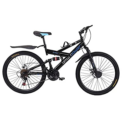 "26"" Carbon Steel Mountain Bike,21Speed Full..."