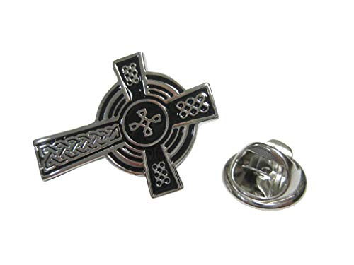 Kiola Designs Large Textured Celtic Cross Lapel Pin