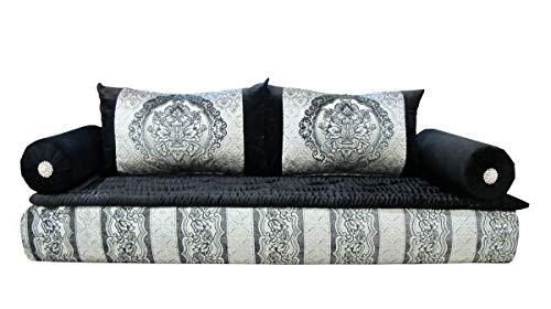 Sofá marroquí gris / negro