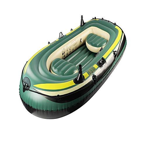 Canness Aufblasbares Kajak Set 2 Person 190 kg Loading Schlauchboot mit Pumpe Angeln Schlauchboot 243x113cm Kanu Fischerboot (Color : Green, Size : 243x113cm)