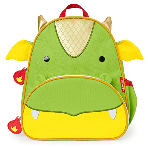 "Skip Hop Toddler Backpack, 12"" Dragon School Bag, Multi, 0.4 Pounds"