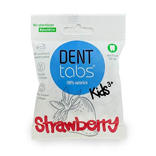 Zahnputztabletten Denttabs Kids Strawberry ohne Fluorid