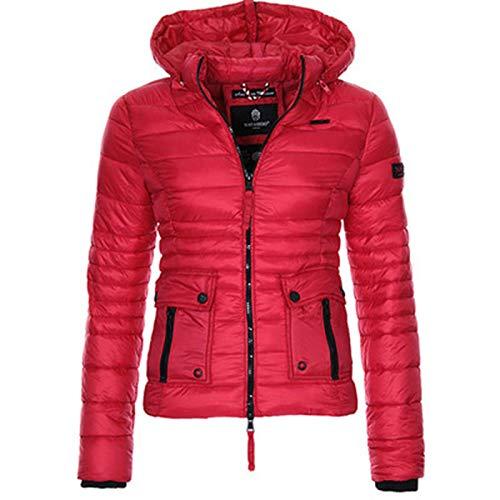 SLYZ Nouvelle Veste En Coton à Capuche Mince De Couleur Bonbon Pour Femmes D'hiver Pour Femmes