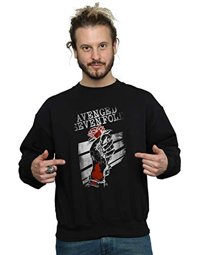 Absolute Cult Avenged Sevenfold Homme Rose Hand Sweat-Shirt Noir XX-Large