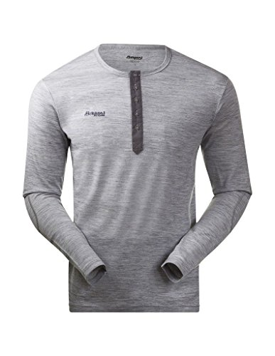 Bergans Puma t-Shirt Henley pour Homme Wool L Gris - Gris