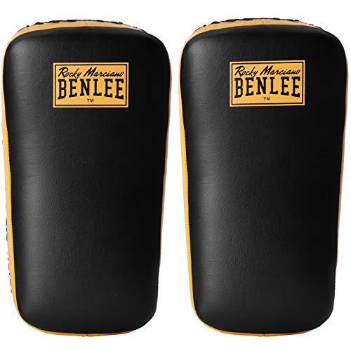 BENLEE Rocky Marciano Unisex Boxpratzen Super Thai Two mit robusten Riemen Black/Yellow, One Size