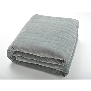 TheraWeight Weighted Stress and Anxiety Blanket (20lb, 48 X78  Grey)