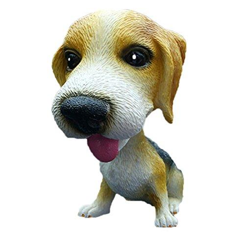 Vosarea Figura de perro que mueve la cabeza para decoración y juguete