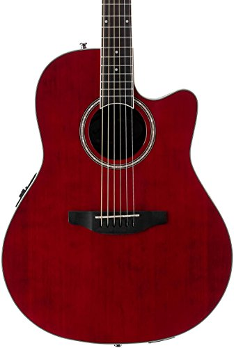 Ovation Applause E-Akustikgitarre AB24II-RR mid Cutaway ruby red