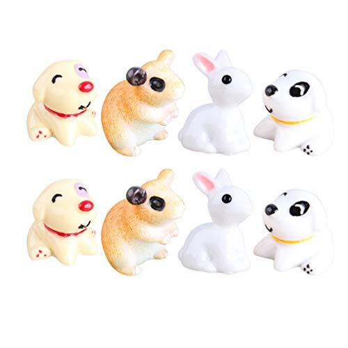 EXCEART 30pcs Miniature Animal Figurine Resin Puppy Rabbit Hamster Figures Cupcake Cake Topper Kids Educational Toy Dollhouse Bonsai Fairy Garden Landscape DIY Ornament