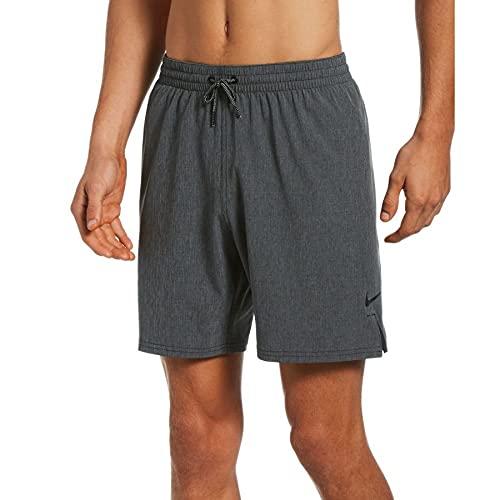 """Nike 7"""" Volley Pantaloncini da Bagno da Uomo, Uomo, Costume da Bagno, NESSA479-039, Grigio mélange, S"""