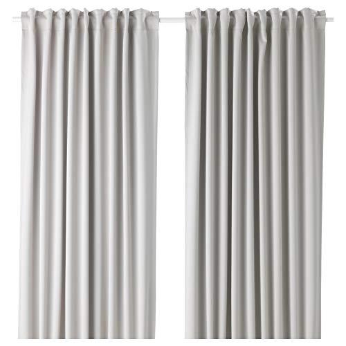 IKEA ASIA MAJGULL Verdunkelungsvorhänge, 1 Paar, Hellgrau