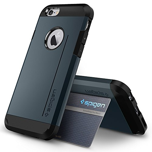 『【Spigen】 iPhone6 ケース, [ 米軍MIL規格取得 衝撃 吸収 パターン 加工 ] タフ・アーマー アイフォン 6 用 耐衝撃 カバー』の5枚目の画像