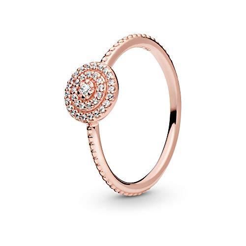 Pandora Jewelry Elegant Sparkle Cubic Zirconia Ring in Pandora Rose, Size 6