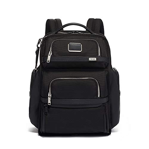 TUMI - Alpha 3 Brief Pack - 15 Inch Computer Backpack for Men and Women - Black Chrome