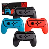Orzly Switch Mandos Grip Joy-con (Party Pack de 4 Mandos Compatibles con Super Smash Bros Ultimate...