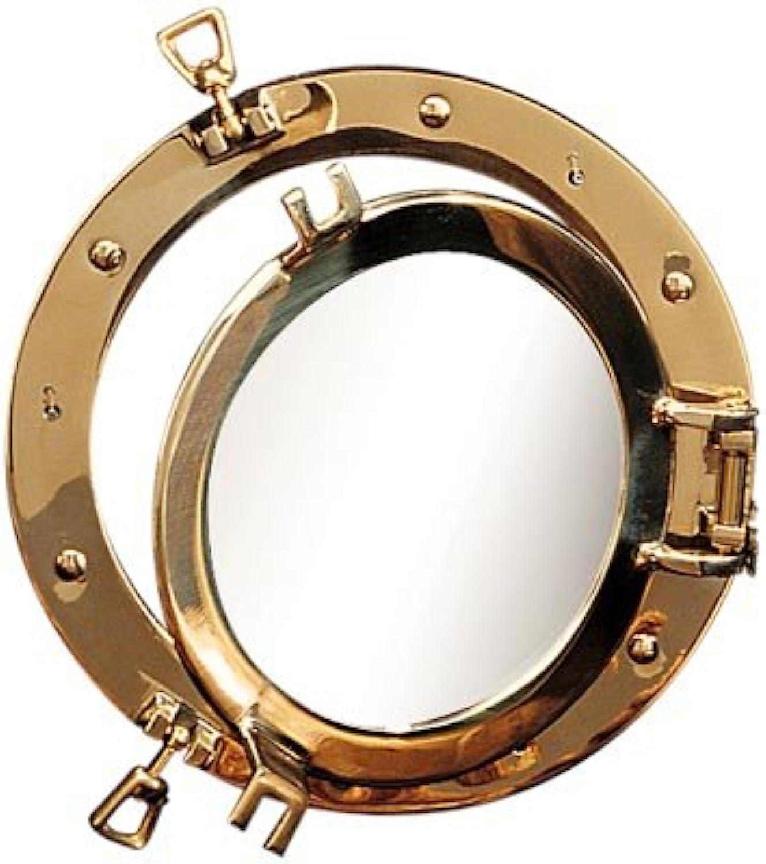 8  Polished Brass Nautical Porthole Window