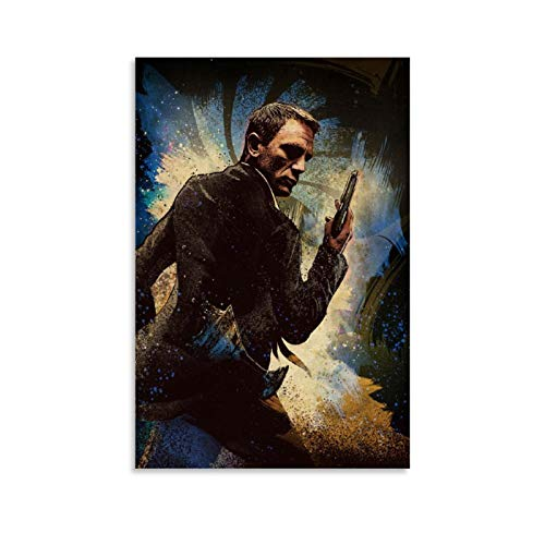 ZHONGJUN James Bond Movie 007 Goldfinger Poster Canvas Art Poster and Wall Art Picture Print Modern Family Bedroom Decor Posters