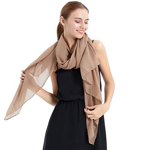 KAVINGKALY Baumwolle Muslimische Schals Frauen Leichte Schal Einfarbig Große Tücher und Wraps für Abendkleider (Nude)