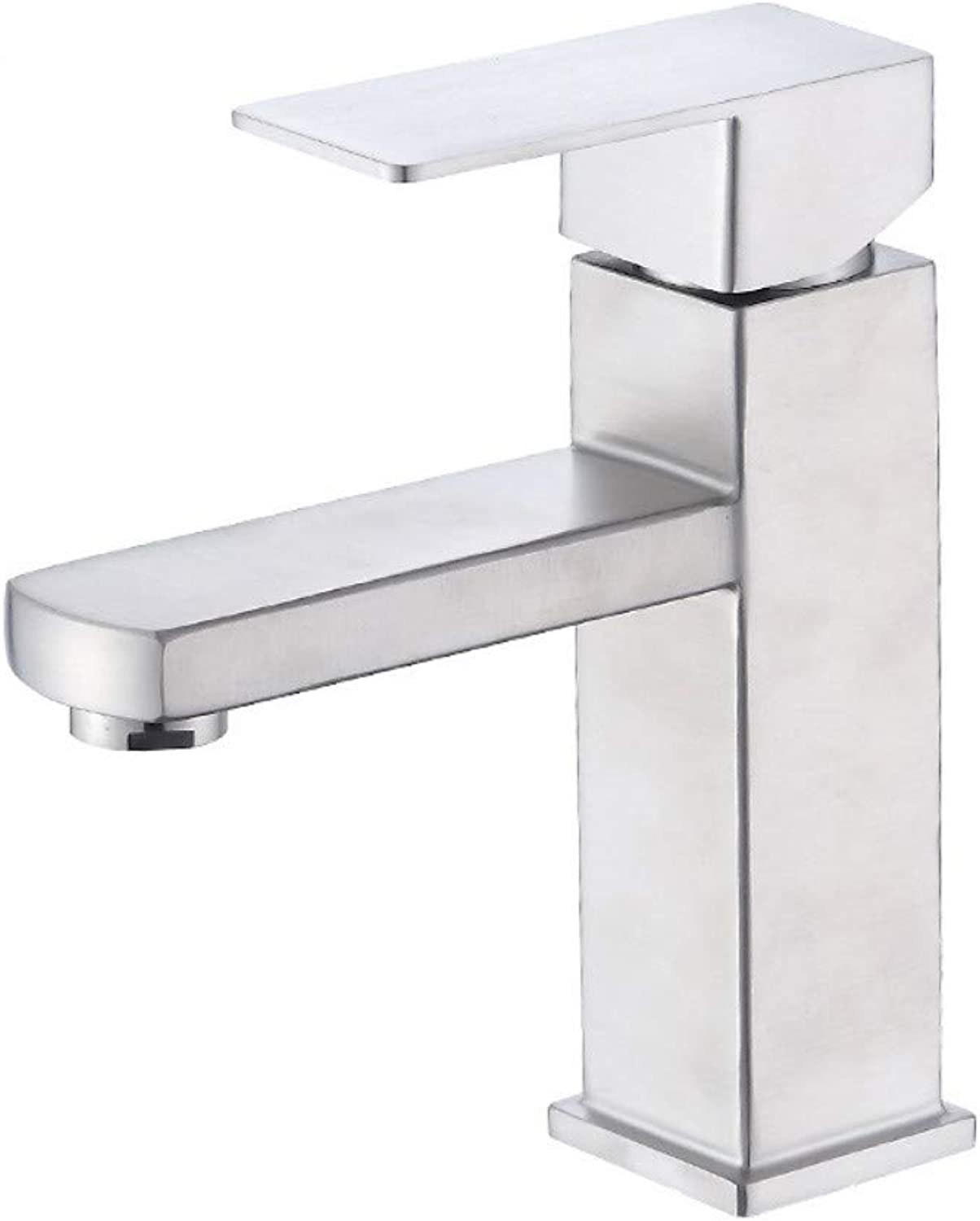 Stainless Steel Four-Sided Basin Hot and Cold Faucet Bathroom Counter Basin Wash Basin Mixer