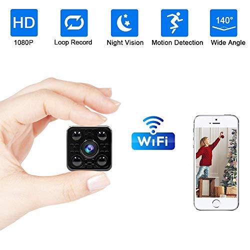 Camaras Espias Ocultas,UYIKOO Mini Camaras Espias 1080P HD Cámara Vigilancia Portátil Secreta Compacta con Detector de Movimiento Visión Nocturna para iPhone/Android