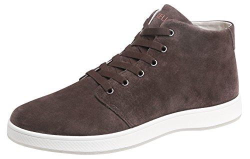 Aureus Men's Patron Dark Brown Nubuck Leather High Top Shoe Size 9.5 M US