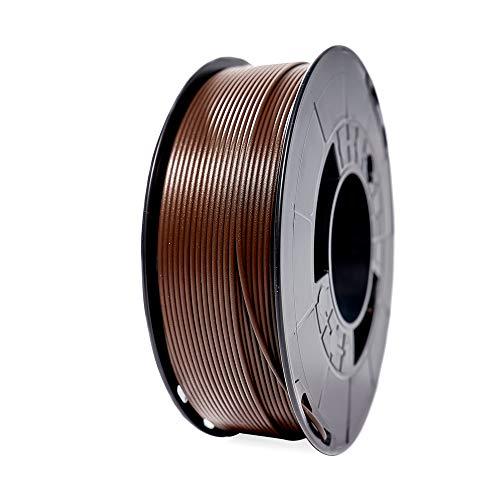Winkle Filamento PLA | Pla 1.75mm | Filamento Impresión | Impresora 3D | Filamento 3D | Color Marrón Ebano | Bobina 1000gr