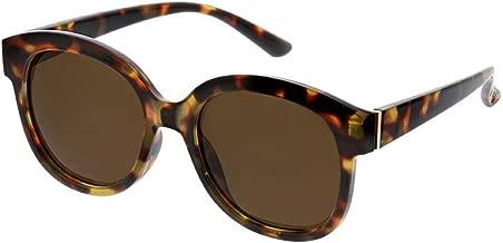 Peepers Women's Catalina Reading Glasses Round Sunglasses Black 52 mm