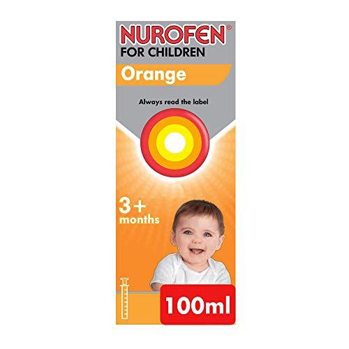 Nurofen for Children Baby Orange Flavour 100mg/5ml Oral Suspension 3+ months 100ml