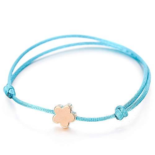 WHFDRHSZ armband armbanden chram armband voor kinderen vrouwen meisjes goud kleur kleine bloem ketting armbanden vrouwelijk sieraad