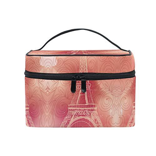 Paris Tour Eiffel Trousse Sac de Maquillage Toilette Cas Voyage Sac Organisateur Cosmétique Boîtes pour Les Femmes Filles