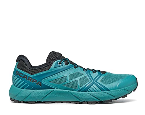 SCARPA Men's Spin 2.0 Trail Shoes for Hiking and Trail Running - Petrol/Black - 10.5