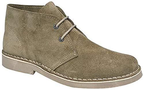 Roamers CABALLEROS Safari Stiefel Original Klassischer Stil, Beige - Kaki - Größe: 42.5 EU