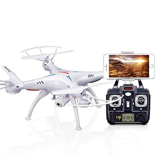 ACHICOO SY-MA X5SW - Dron con cámara WiFi y cámara en Tiempo Real, cuadricóptero (X5C Upgrade), cámara HD, Dron 4CH, helicóptero teledirigido, Regalo para niños