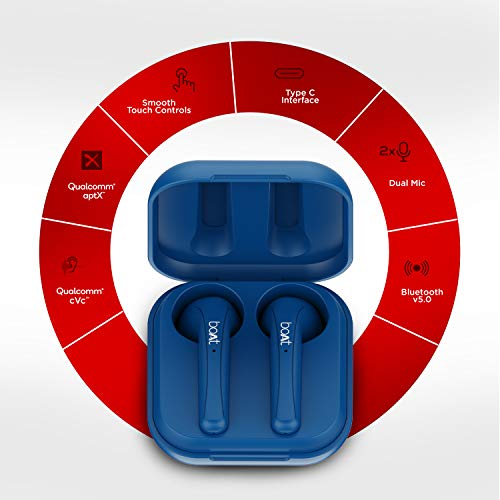 boAt Airdopes 481V2 Bluetooth Truly Wireless Earbuds with Mic(Mysterious Blue)