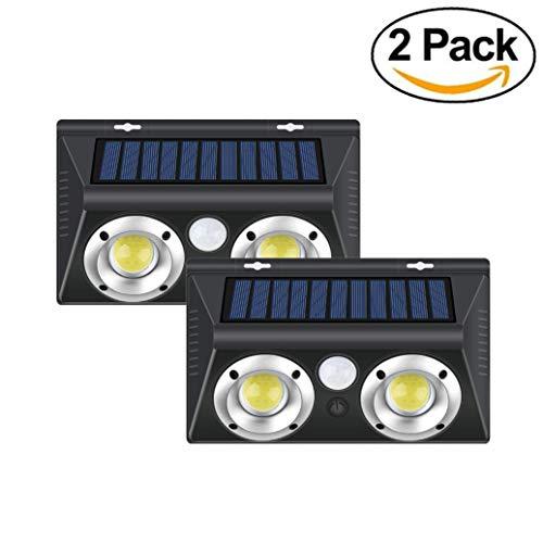 SIMGULAM Luz Solar de Pared, Sensor de Movimiento Exterior Home Depot Luz Solar de Pared, al Aire Libre, a Prueba de Agua, IP65 Dusk To Dawn para el Patio del jardín, 2 Paquetes
