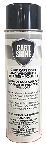 Club Clean Cart Shine - Cleaner for Golf Carts, ATV's, Motorcycles, Tires, Canopys, and More!