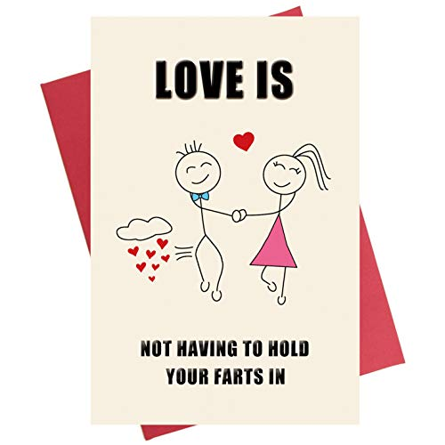 Funny Anniversary Card, Rude Birthday Card, Love Card for Girlfriend Boyfriend Him Her Wife Husband