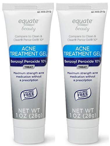 Equate Beauty 10% Benzoyl Peroxide Acne Treatment Gel, 1 Oz (2 count) (Pack of 1)