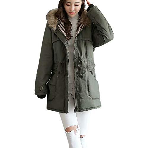 Best Review Of Women Cardigan Overcoat Winter Fleece Outdoor Warm Jacket Coat Hooded Zip Up Oversize...