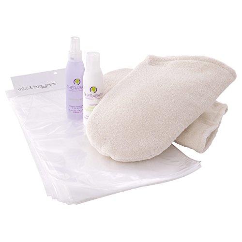 Therabath Pro Handschuh-Set, Frottee Paraffin Handschuhe + 100 Einweghandschuhe