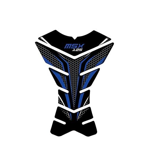Protector DE Tanque Moto para Monkey MSX125 MSX 125, Pegatinas De Tanque De Combustible De Motocicleta para Protector De Tanque De Aceite Hond, Pegatina Antideslizante para Almohadilla Calcomanías de