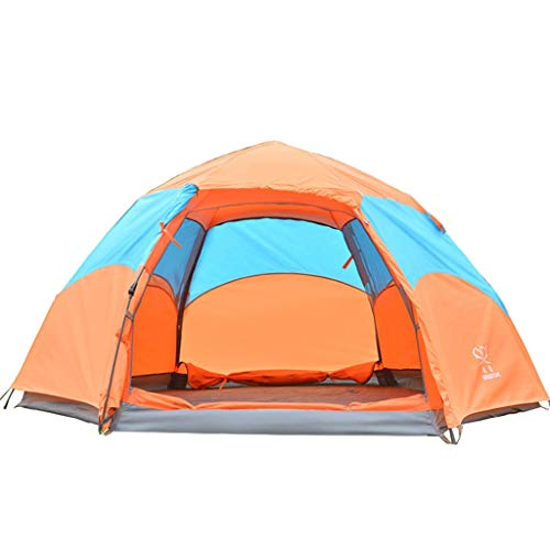 ZHJ Hexagonal Automatic Tent 3-4 People Rainproof Frame Tents