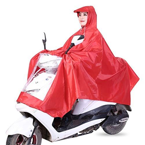 YUUY De Gran tamaño de la Motocicleta del Impermeable, con Lluvia máscara a Prueba de Agua Vehículos eléctricos Lluvia Hombres de Las Mujeres del Poncho de Adultos Transpirable rainware (Color : C)