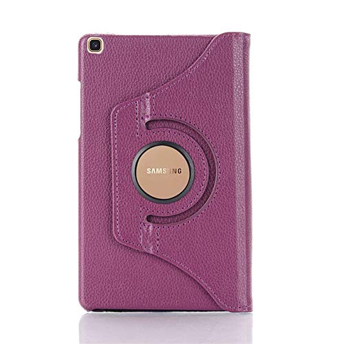 HHF Tab Accessories For Samsung Galaxy Tab A 10.1 2019 T510 T515, Stand PU Leather 360 Rotating Case Cover for SM-T510 SM-T515 10.1' Cover+film+pen (Color : Purple)