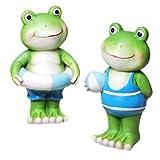 Froschpaar mit Schwimmring und Ball 20 cm...