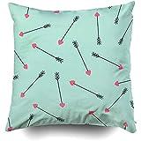 Sonder-Shop Kissenbezug Mit Reißverschluss, Kissenbezüge Couch Cupid Arrows Pattern Mint Green Arrows Valentinstag Dekokissen