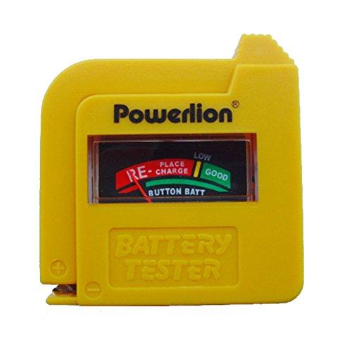 Mini testador de bateria portátil universal, indicador de ponteiro, verificador de voltagem para 9 V, 1,5 V, C, D, AA, pilhas recarregáveis e descartáveis.