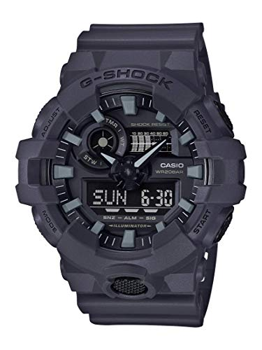 Casio Men's XL Series G-Shock Quartz 200M WR Shock Resistant Resin Color: Matte Grey (Model GA-700UC-8ACR)