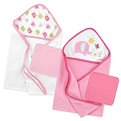 Just Born Love to Bathe Elephant Bath Set, Pink